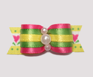 "#0654 - 5/8"" Dog Bow - Cute, Fun & Colorful, Summer Brights"