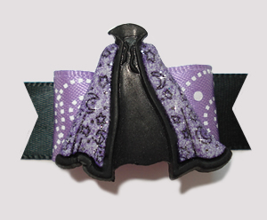 "#0802 - 5/8"" Dog Bow - Amazing Magical Cape, Purple Swirl"