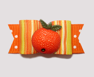 "#0832 - 5/8"" Dog Bow - Citrus Delight, Fun Bright Orange"