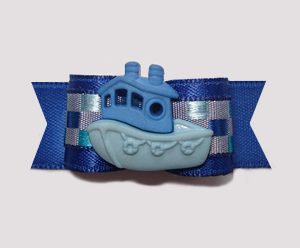 "#0889 - 5/8"" Dog Bow - Mighty Machine - Blue Tugboat"