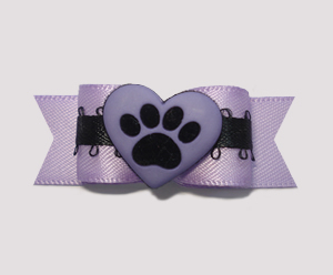 "#0919 - 5/8"" Dog Bow - Pawsitively Full of Love! XO"