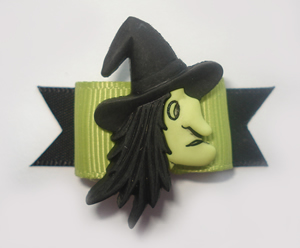 "#1370 - 5/8"" Dog Bow - Scary Wicked Witch"