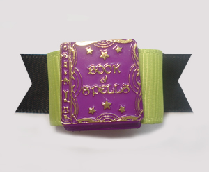 "#1379 - 5/8"" Dog Bow - Unique Book of Spells, Purple"