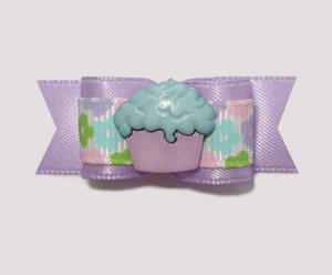 "#1837 - 5/8"" Dog Bow - Little Cupcake, Sweet Lavender"