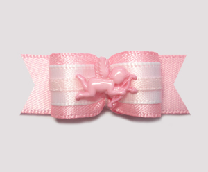 "#2017 - 5/8"" Dog Bow - Adorable Baby Pink Cupid, Pink Satin"