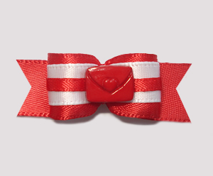 "#2022 - 5/8"" Dog Bow - Love Letter, Red Satin"