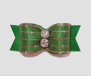 "#2171 - 5/8"" Dog Bow - Razzle Dazzle, Hunter Green"