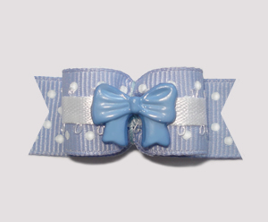 "#2219 - 5/8"" Dog Bow - Adorable Dots with Bow"