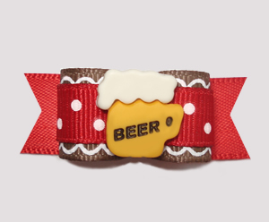 "#2413- 5/8"" Dog Bow- Oompapa Oktoberfest / Weekend Ballgame Beer"