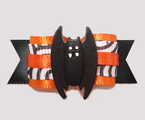 "#2473 - 5/8"" Dog Bow - Go Batty on Halloween, Vampire Bat"