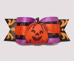 "#2477 - 5/8"" Dog Bow - Unique & Trendy Little Pumpkin"