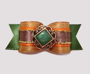 "#2480 - 5/8"" Dog Bow - Classic Autumn, Victorian Center"