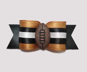 "#2500 - 5/8"" Dog Bow - Football, Old Gold/Black"