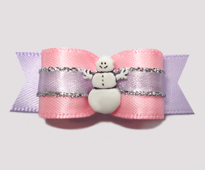 "#2534 - 5/8"" Dog Bow - Pretty as a Princess, Snowgirl"
