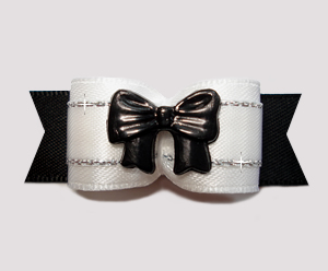 "#2656 - 5/8"" Dog Bow - Black Tie Affair"