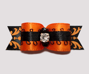 "#2680 - 5/8"" Dog Bow - Gorgeous Autumn Beauty, Rhinestone"