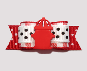 "#2688 - 5/8"" Dog Bow - Good Boy/Girl, Fire Hydrant"