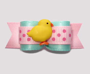 "#2702 - 5/8"" Dog Bow - So Cute! Little Spring Chick"