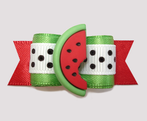 "#2711 - 5/8"" Dog Bow - Burst of Good Taste, Sweet Red Watermelon"