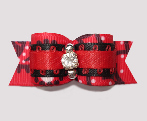 "#2779 - 5/8"" Dog Bow - Country/Western Red Bandana Print"