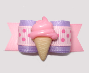 "#2800 - 5/8"" Dog Bow - Sweet Lavender/Pink, Pink Ice Cream"