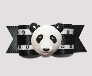 "#2829 - 5/8"" Dog Bow - Perfect Panda, Black/White"