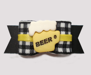 "#2961 - 5/8"" Dog Bow- A Cool Brew For You, Frothy Beer"
