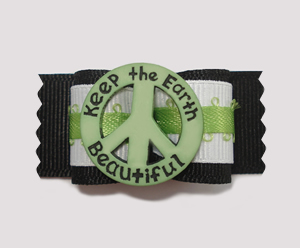 "#A7050 - 7/8"" Dog Bow - ""Keep the Earth Beautiful"", Unique!"