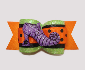 "#A7207 - 7/8"" Dog Bow - Fantastically Bewitching Shoe"