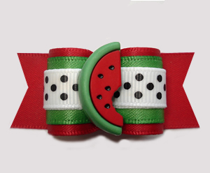 "#A7366- 7/8"" Dog Bow - Burst of Good Taste, Sweet Red Watermelon"