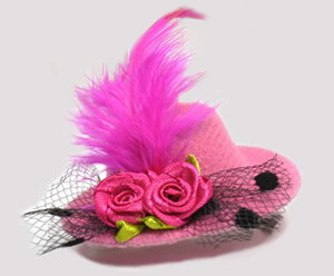 #TTD05 - Tiny Topper Dog Hat, Deluxe - Fabulous Fuchsia