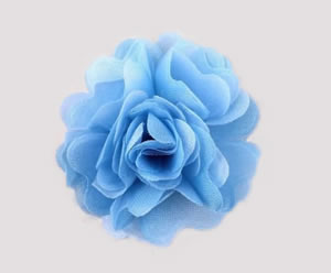 #ASPRBLM35 - Dog Hair Clip - Spring Blossom, Light Blue
