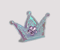 #BAR0102 - Dog Barrette - Cutie Patootie, Sparkly Crown, Purple