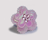 #BAR0105 - Dog Barrette - Cutie Patootie, Sparkly Flower, Pink