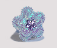 #BAR0106 - Dog Barrette - Cutie Patootie, Sparkly Flower, Purple