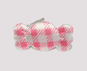 #BAR01076P - Dog Barrette - Sweet Gingham Candy, Pink