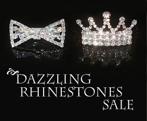 ZBB1000 - Dazzling Rhinestones SALE - Set of 2: Bow & Tiara
