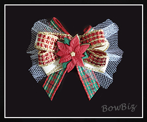 #BTQ090 - Boutique Dog Bow - Fa-la-la-la-Lovely!