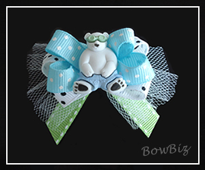 "#BTQ100 - Boutique Dog Bow - ""I'm Bear-y Cool"""