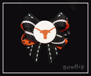 #BTQ112 - Boutique Dog Bow - Texas Longhorn