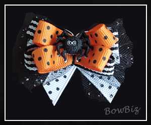 #BTQ120 - Boutique Dog Bow - Trick or Trea-Eeek!