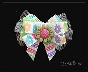 #BTQ132 - Boutique Dog Bow - Bloomin' Beautiful