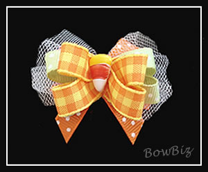 #BTQ134 - Boutique Dog Bow - Just Another Corny Bow