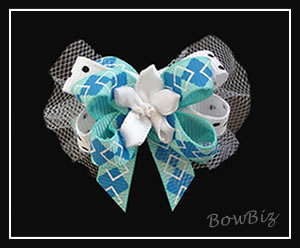 #BTQ138 - Boutique Dog Bow - Perfectly Preppy
