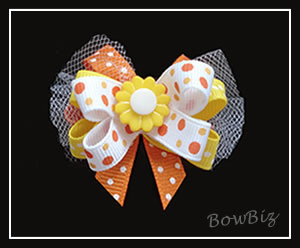 #BTQ140 - Boutique Dog Bow - Sunny Side Up