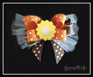 #BTQ260 - Boutique Dog Bow - Lovely Fall Flower