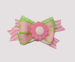 #BTQM040 - Mini Boutique Bow Strawberry Kiwi Flower