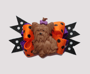 #BTQM042 - Mini Boutique Bow Ready for Halloween, Yorkie