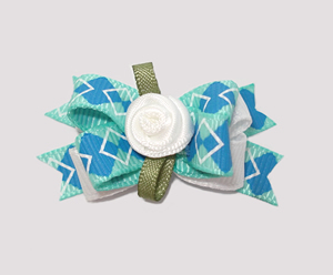 #BTQM100 - Mini Boutique Bow Preppy Argyle
