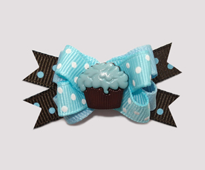 #BTQM170 - Mini Boutique Bow Blueberry 'n Chocolate Cupcake